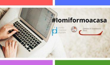 #iomiformoacasa: La Camera di Commercio di Terni avvia percorsi formativi a distanza per le imprese del territorio